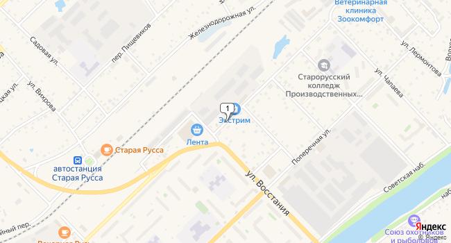 Арендовать офис 20 м<sup>2</sup> в Старой Руссе по адресу Россия, Новгородская область, Старая Русса, улица Латышских Гвардейцев