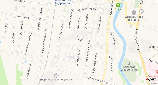 Купить коммерческую недвижимость 662 м<sup>2</sup> в Андреаполе по адресу Россия, Тверская область, Андреаполь, улица Матросова, 11