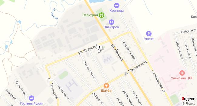 Арендовать коммерческую недвижимость 4000 м<sup>2</sup> в Унече по адресу Россия, Брянская область, Унеча, улица Крупской, 9
