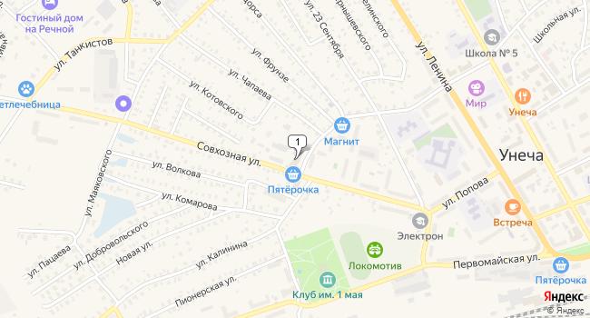Купить коммерческую недвижимость 372 м<sup>2</sup> в Унече по адресу Россия, Брянская область, Унеча, Совхозная улица, 30