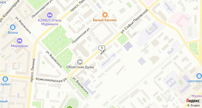 Арендовать офис 30 м<sup>2</sup> в г. Мурманск по адресу Россия, Мурманск, улица Софьи Перовской, 17