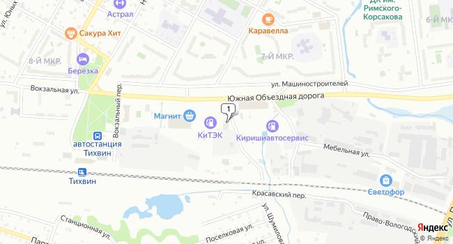 Купить торговую площадь 147 м<sup>2</sup> в Тихвине по адресу Россия, Ленинградская область, Тихвин, улица Шумилова, 3