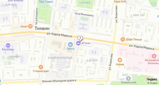 Арендовать торговую площадь 650 м<sup>2</sup> в Тихвине по адресу Россия, Ленинградская область, Тихвин, 2-й микрорайон, 1А