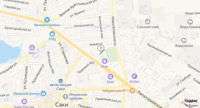 Купить коммерческую недвижимость 1072 м<sup>2</sup> в г. Саки по адресу Россия, Республика Крым, Саки, Евпаторийское шоссе, 80Б
