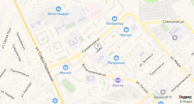 Арендовать торговую площадь 385 м<sup>2</sup> в Боровичах по адресу Россия, Новгородская область, Боровичи, Сушанская улица, 6