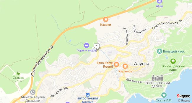 Арендовать торговую площадь 300 м<sup>2</sup> в Алупке по адресу Россия, Республика Крым, городской округ Ялта, Алупка, Севастопольское шоссе, 62