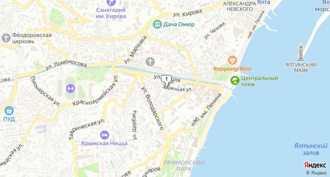 Купить офис 12 м<sup>2</sup> в Ялте по адресу Россия, Республика Крым, Ялта, Заречная улица, 10