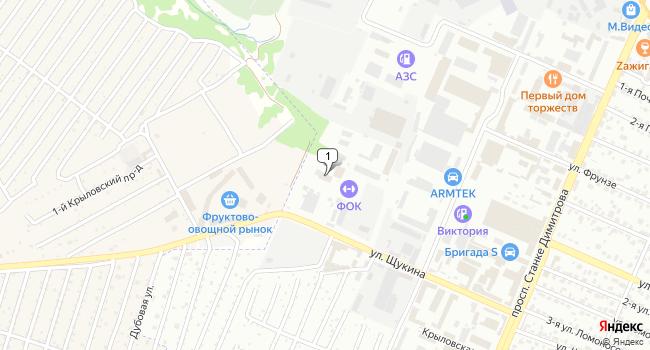 Арендовать склад 440 м<sup>2</sup> в Брянске по адресу Россия, Брянск, улица Щукина, 56