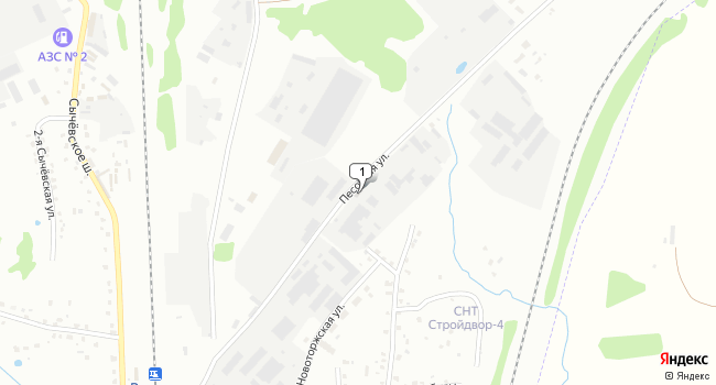 Купить торговую площадь 1942 м<sup>2</sup> в Вязьме по адресу Россия, Смоленская область, Вязьма, Песочная улица, 8