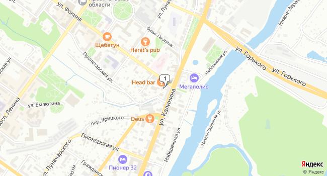 Арендовать офис 24 м<sup>2</sup> в Брянске по адресу Россия, Брянск, улица Фокина, 1