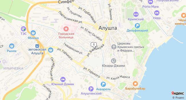 Купить земельный участок 10000 м<sup>2</sup> в Алуште по адресу Россия, Республика Крым, Алушта, улица Багликова