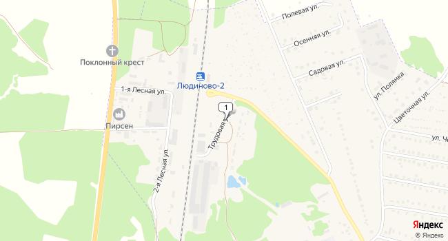 Арендовать производственное помещение 272 м<sup>2</sup> в Людиново по адресу Россия, Калужская область, Людиново, Трудовая улица