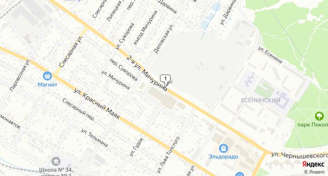 Арендовать склад 1000 м<sup>2</sup> в Брянске по адресу Россия, Брянск, 2-я улица Мичурина