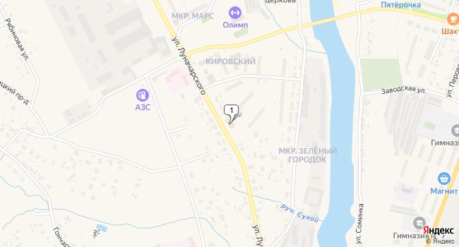 Арендовать коммерческую недвижимость 10 м<sup>2</sup> в Торжке по адресу Россия, Тверская область, Торжок, улица Луначарского, 126