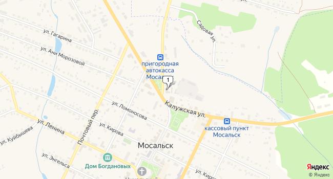 Купить коммерческую недвижимость 529 м<sup>2</sup> в Мосальске по адресу Россия, Калужская область, Мосальск, Калужская улица, 28