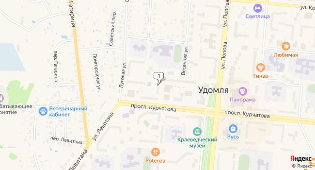 Арендовать торговую площадь 62 м<sup>2</sup> в Удомле по адресу Россия, Тверская область, Удомля, проспект Курчатова, 24а