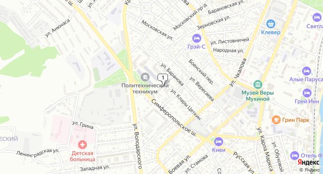 Арендовать торговую площадь 100 м<sup>2</sup> в Феодосии по адресу Россия, Республика Крым, Феодосия, Симферопольское шоссе, 24Б