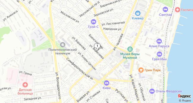 Арендовать торговую площадь 10 м<sup>2</sup> в Феодосии по адресу Россия, Республика Крым, Феодосия, улица Вересаева