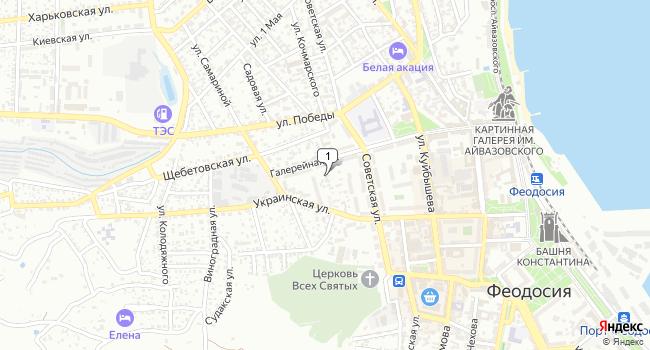 Арендовать торговую площадь 117 м<sup>2</sup> в Феодосии по адресу Россия, Республика Крым, Феодосия, Галерейная улица, 17