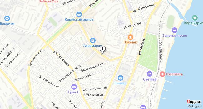 Купить торговую площадь 205 м<sup>2</sup> в Феодосии по адресу Россия, Республика Крым, Феодосия, бульвар Старшинова