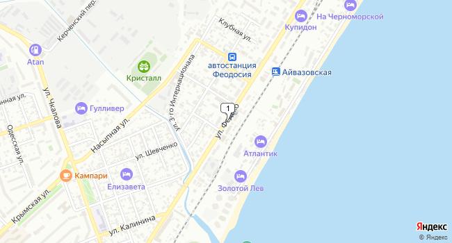 Арендовать торговую площадь 250 м<sup>2</sup> в Феодосии по адресу Россия, Республика Крым, Феодосия, улица Федько