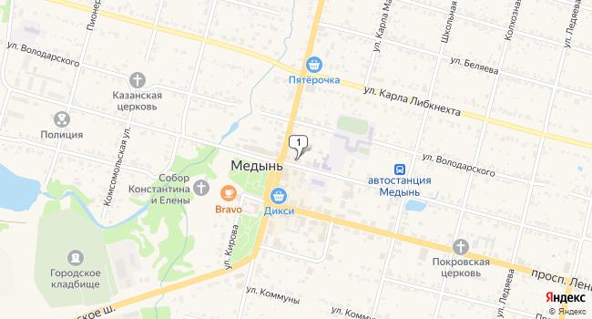 Купить офис 243 м<sup>2</sup> в Медыни по адресу Россия, Калужская область, Медынь, улица Луначарского, 53