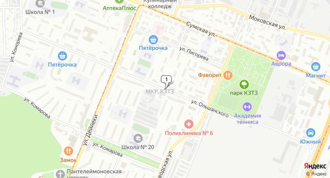 Арендовать офис 100 м<sup>2</sup> в Курске по адресу Россия, Курск, микрорайон КЗТЗ, улица Ольшанского