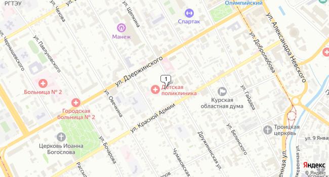 Арендовать торговую площадь 70 м<sup>2</sup> в Курске по адресу Россия, Курск, Дружининская улица, 7А