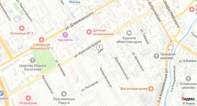 Арендовать офис 962 м<sup>2</sup> в Курске по адресу Россия, Курск, улица Красной Армии, 44