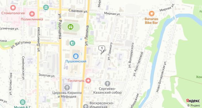 Арендовать торговую площадь 100 м<sup>2</sup> в Курске по адресу Россия, Курск, улица Кати Зеленко, 7А