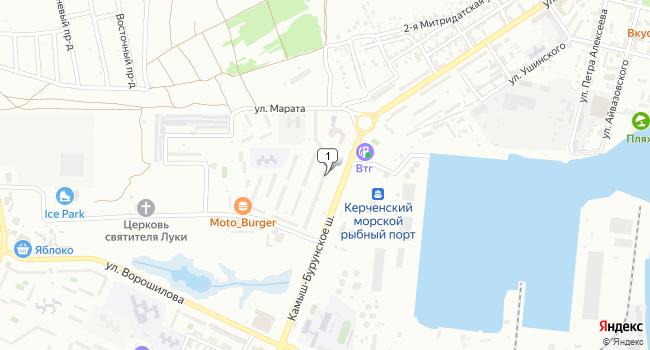 Арендовать торговую площадь 89 м<sup>2</sup> в Керчи по адресу Россия, Республика Крым, Керчь, улица Марата, 7