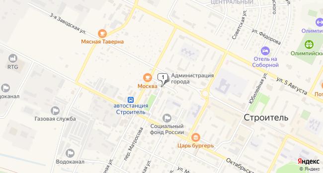 Купить торговую площадь 415 м<sup>2</sup> в Строителе по адресу Россия, Белгородская область, Яковлевский район, Строитель, Промышленный переулок, 1