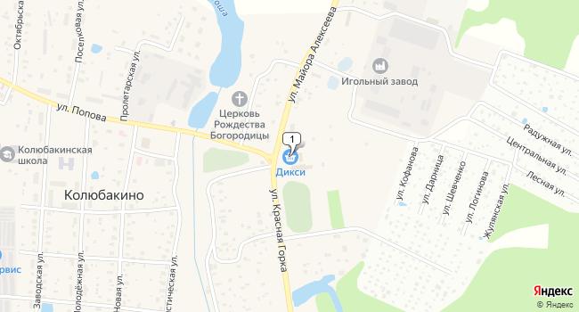 Арендовать коммерческую недвижимость 642 м<sup>2</sup> в Рузском по адресу Россия, Московская область, Рузский городской округ, поселок Колюбакино, улица Майора Алексеева, 1