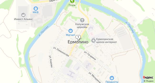 Арендовать склад 450 м<sup>2</sup> в Ермолино по адресу Россия, Калужская область, Боровский район, Ермолино