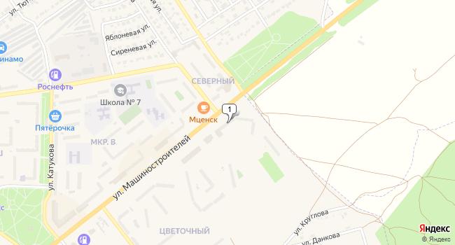 Купить торговую площадь 1539 м<sup>2</sup> в во Мценске по адресу Россия, Орловская область, Мценск, улица Машиностроителей, 19