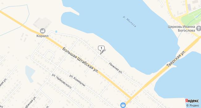 Купить отдельное здание 1100 м<sup>2</sup> в Бежецке по адресу Россия, Тверская область, Бежецк, Нижняя улица, 9
