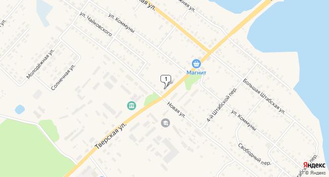 Арендовать офис 125 м<sup>2</sup> в Бежецке по адресу Россия, Тверская область, Бежецк, Тверская улица, 24