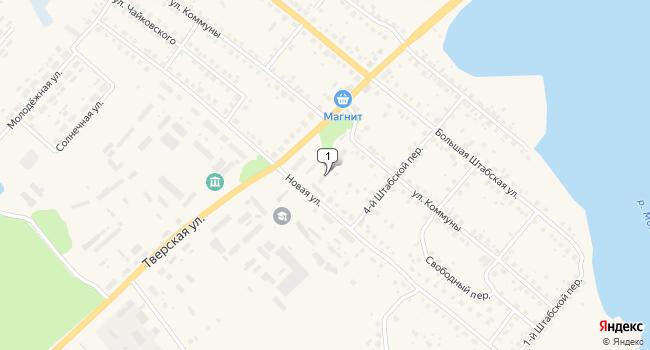 Арендовать торговую площадь 137 м<sup>2</sup> в Бежецке по адресу Россия, Тверская область, Бежецк, Тверская улица, 17