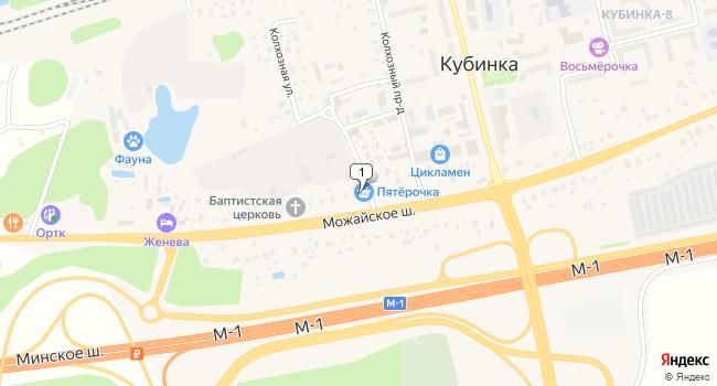 Арендовать торговую площадь 15 м<sup>2</sup> в Кубинке по адресу Россия, Московская область, Одинцовский район, Кубинка, Можайское шоссе, 198