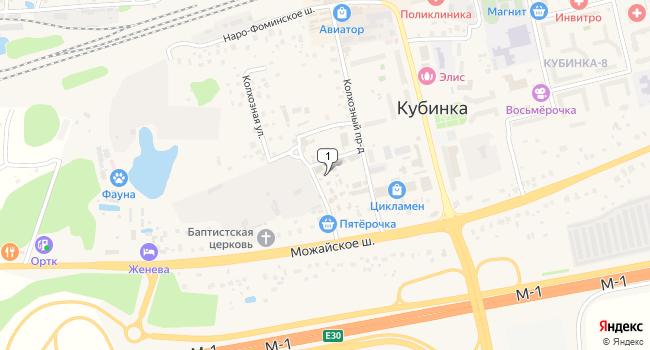 Купить производственное помещение 2753 м<sup>2</sup> в Кубинке по адресу Россия, Московская область, Одинцовский район, городское поселение Кубинка, Кубинка, Колхозный проезд, 6