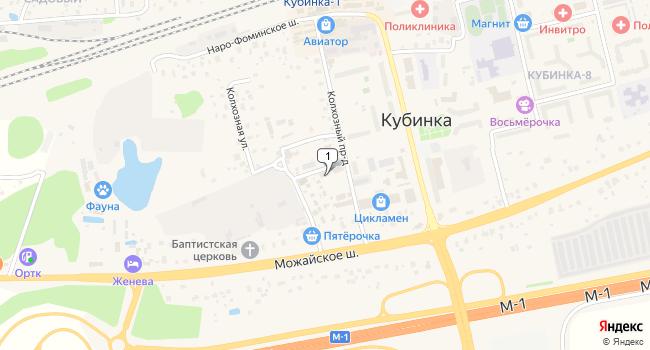 Арендовать торговую площадь 190 м<sup>2</sup> в Кубинке по адресу Россия, Московская область, Одинцовский район, Кубинка, Колхозный проезд, 3