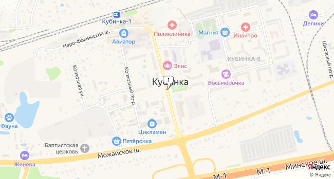 Купить земельный участок 30000 м<sup>2</sup> в Кубинке по адресу Россия, Московская область, Одинцовский район, городское поселение Кубинка, Кубинка