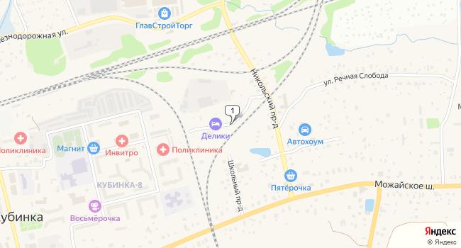 Арендовать склад 500 м<sup>2</sup> в Кубинке по адресу Россия, Московская область, Одинцовский район, Кубинка, улица 59-я Мехколонна