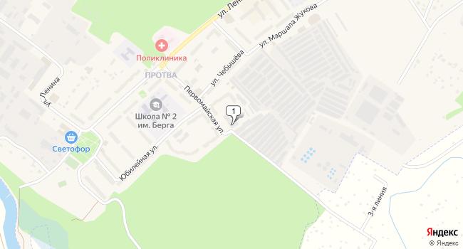 Арендовать склад 375 м<sup>2</sup> в Жукове по адресу Россия, Калужская область, Жуков, Первомайская улица, 9