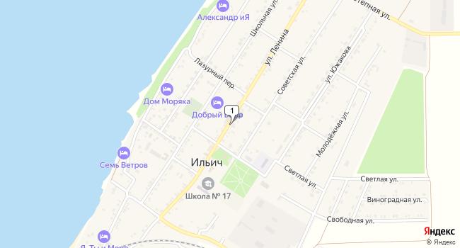 Купить земельный участок 18700 м<sup>2</sup> в Темрюке по адресу Россия, Краснодарский край, Темрюкский район, поселок Ильич