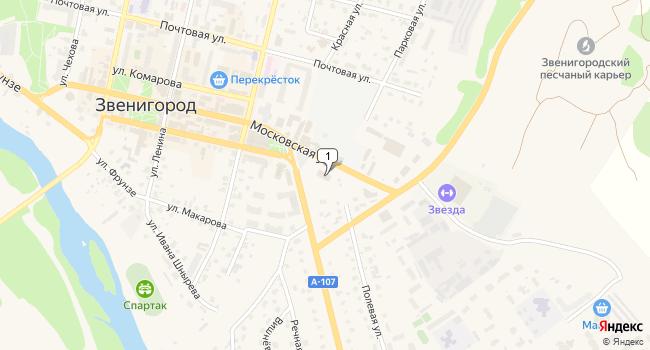 Арендовать торговую площадь 35 м<sup>2</sup> в Звенигороде по адресу Россия, Московская область, Звенигород, Московская улица, 30