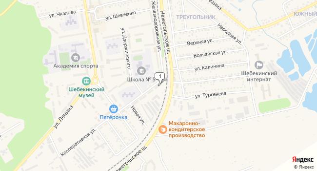 Купить производственное помещение 1501 м<sup>2</sup> в Шебекино по адресу Россия, Белгородская область, Шебекино, Кооперативная улица, 2