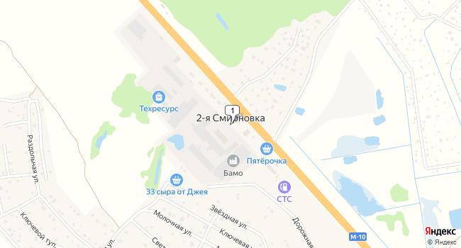 Купить склад 7200 м<sup>2</sup> в посёлке 2-мне Смирновка по адресу Россия, Московская область, Солнечногорский район, поселок 2-я Смирновка