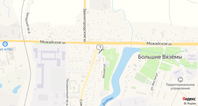 Арендовать склад 4000 м<sup>2</sup> в Голицыно по адресу Россия, Московская область, Одинцовский район, Голицыно, Можайское шоссе, 39