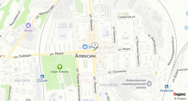 Купить земельный участок 25800 м<sup>2</sup> в Алексине по адресу Россия, Тульская область, Алексин